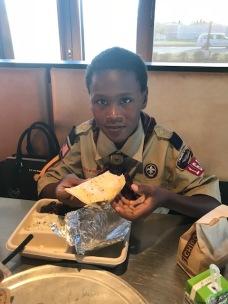 Enjoying my meal