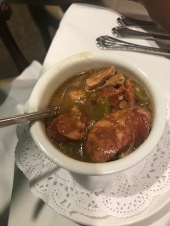 The chicken and sausage gumbo was delicious