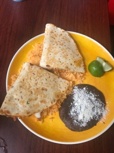 The quesadillas, another look.