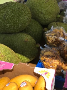 Jackfruit. I tried this in Sao Tome & Principe.