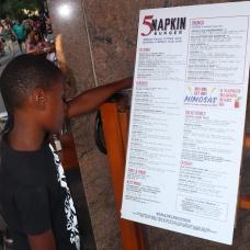5 Napkin's menu